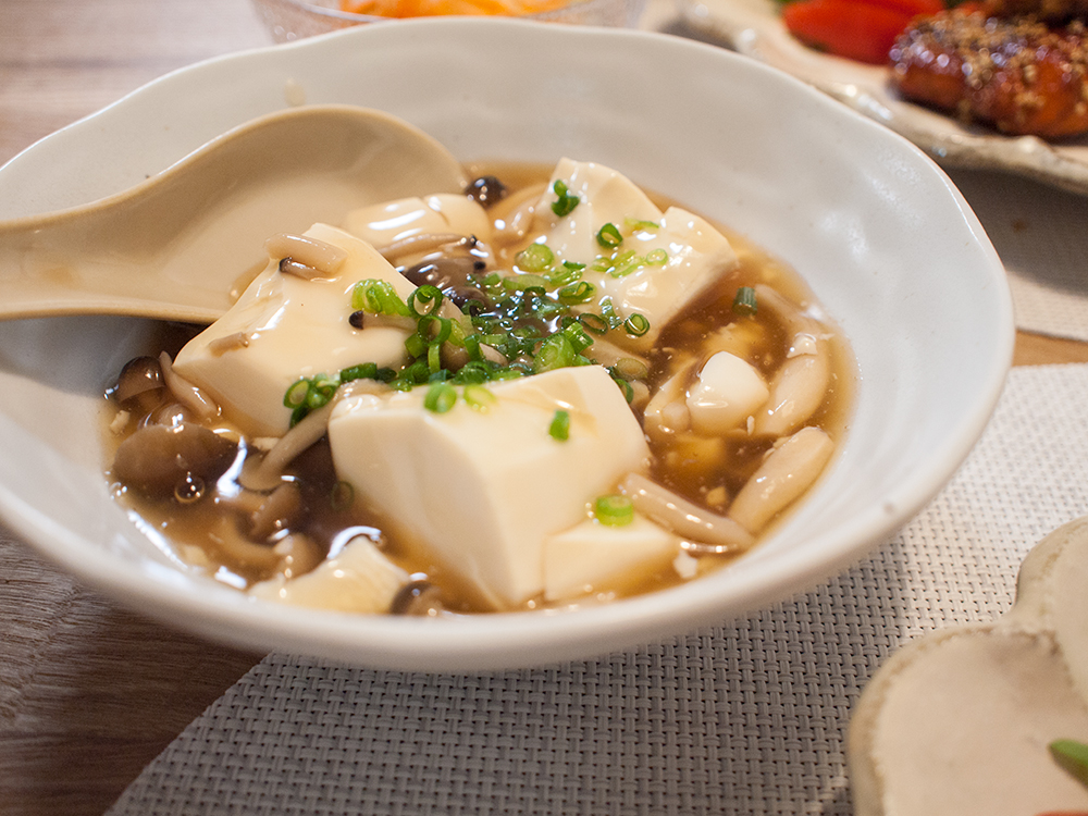 レンチン餡掛け豆腐