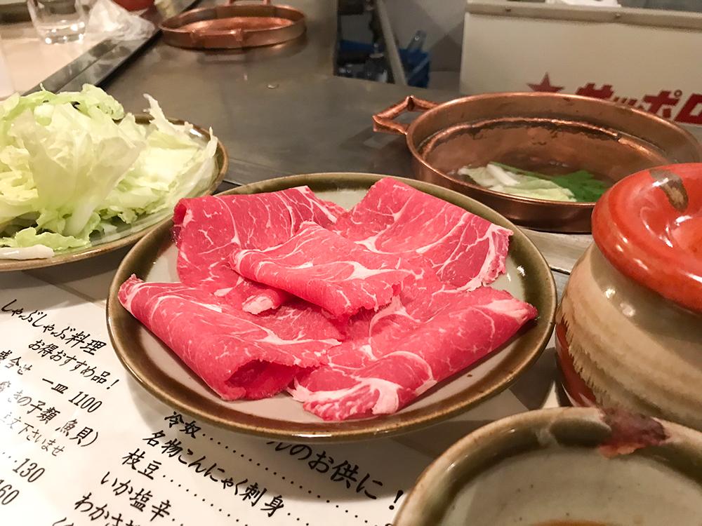 しゃぶ亭福家の牛肉