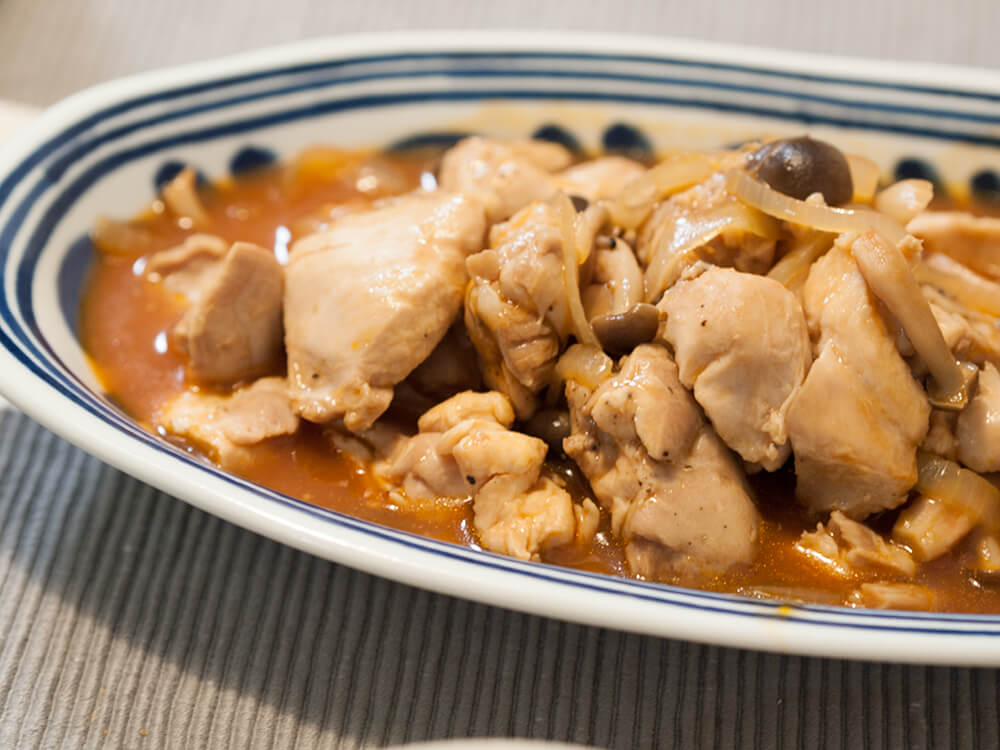 鶏肉のレンチン煮込み
