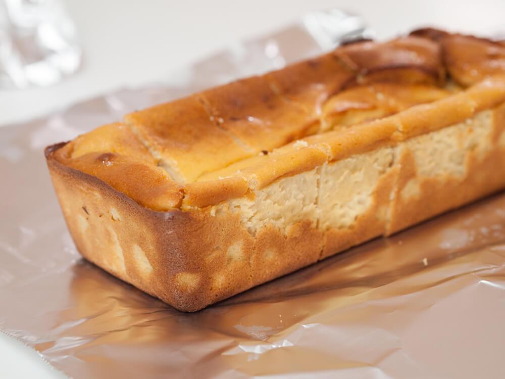 低脂質なチーズケーキ焼き上がり