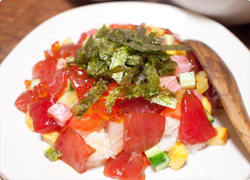 伊達巻のリメイクちらし寿司