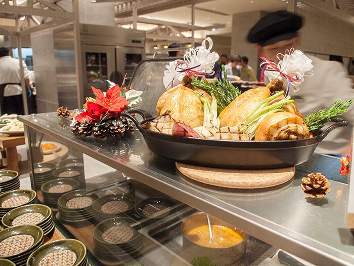 箱根はなをり 夕食ブッフェのローストチキン見本