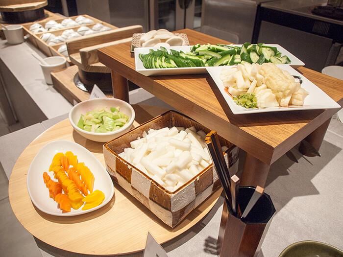 箱根はなをり 夕食ブッフェのお漬物