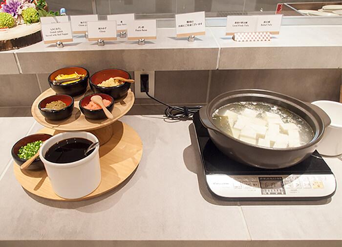 箱根はなをり 夕食ブッフェの湯豆腐