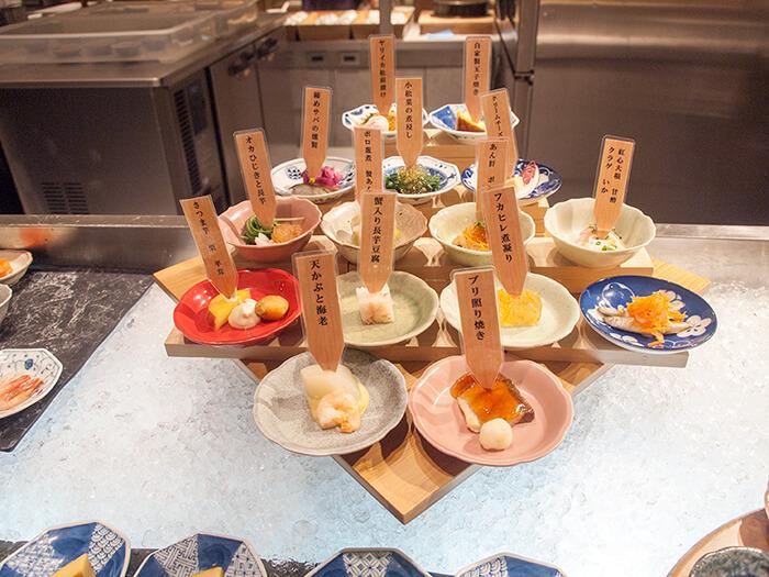 箱根はなをり 夕食の前菜メニュー