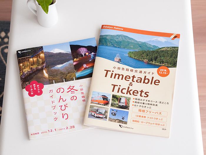 箱根フリーパスを買うともらえるガイドブックと割引チケット