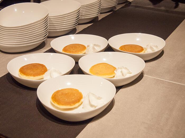 箱根はなをり 朝食ブッフェのパンケーキ