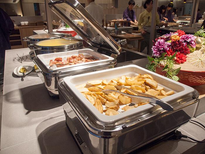 箱根はなをり 朝食ブッフェのお料理台