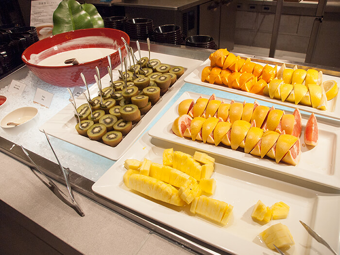箱根はなをり 朝食ブッフェのフルーツ