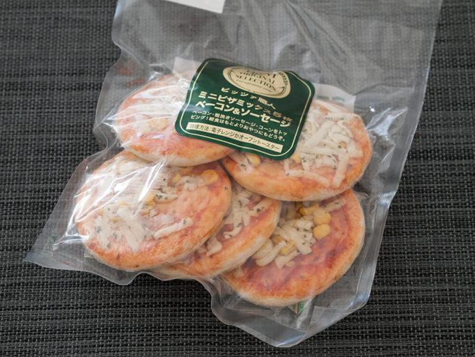 ミニピザのパッケージ