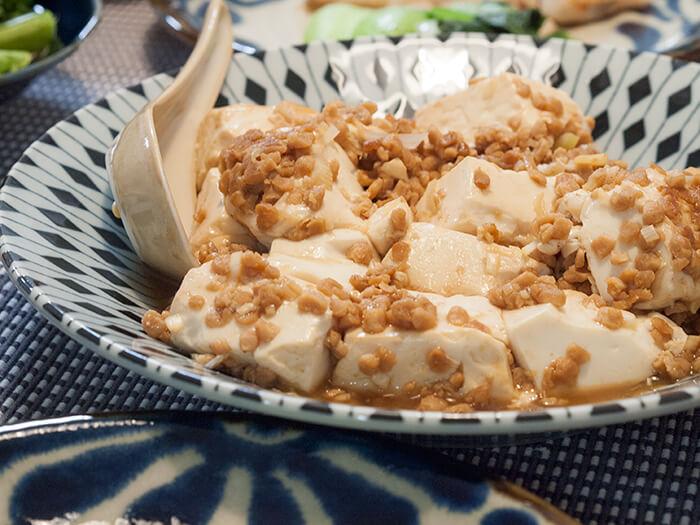 大豆ミートを使った低脂質な麻婆豆腐