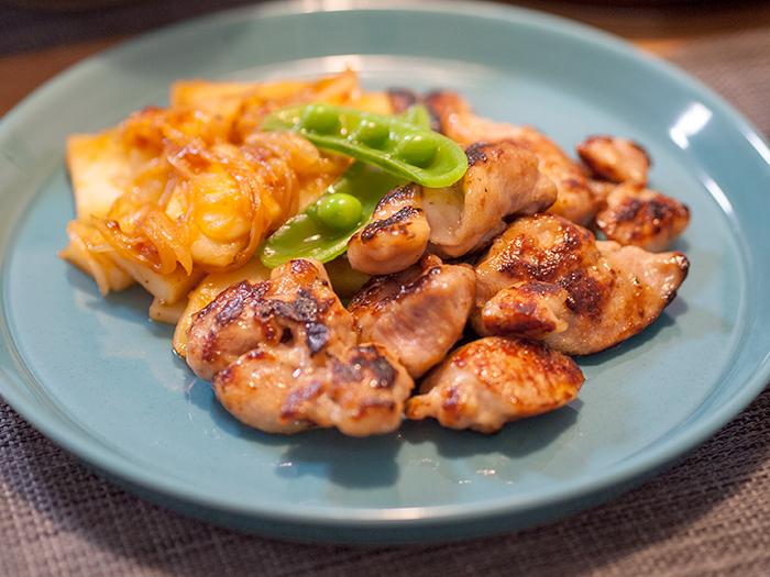 鶏胸肉のスタミナ焼きとリヨネーズポテト
