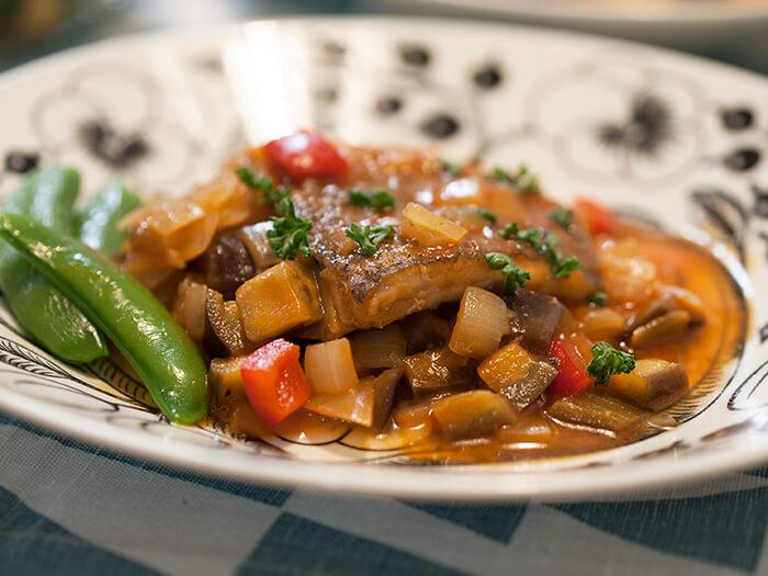メバルの野菜トマトソース煮