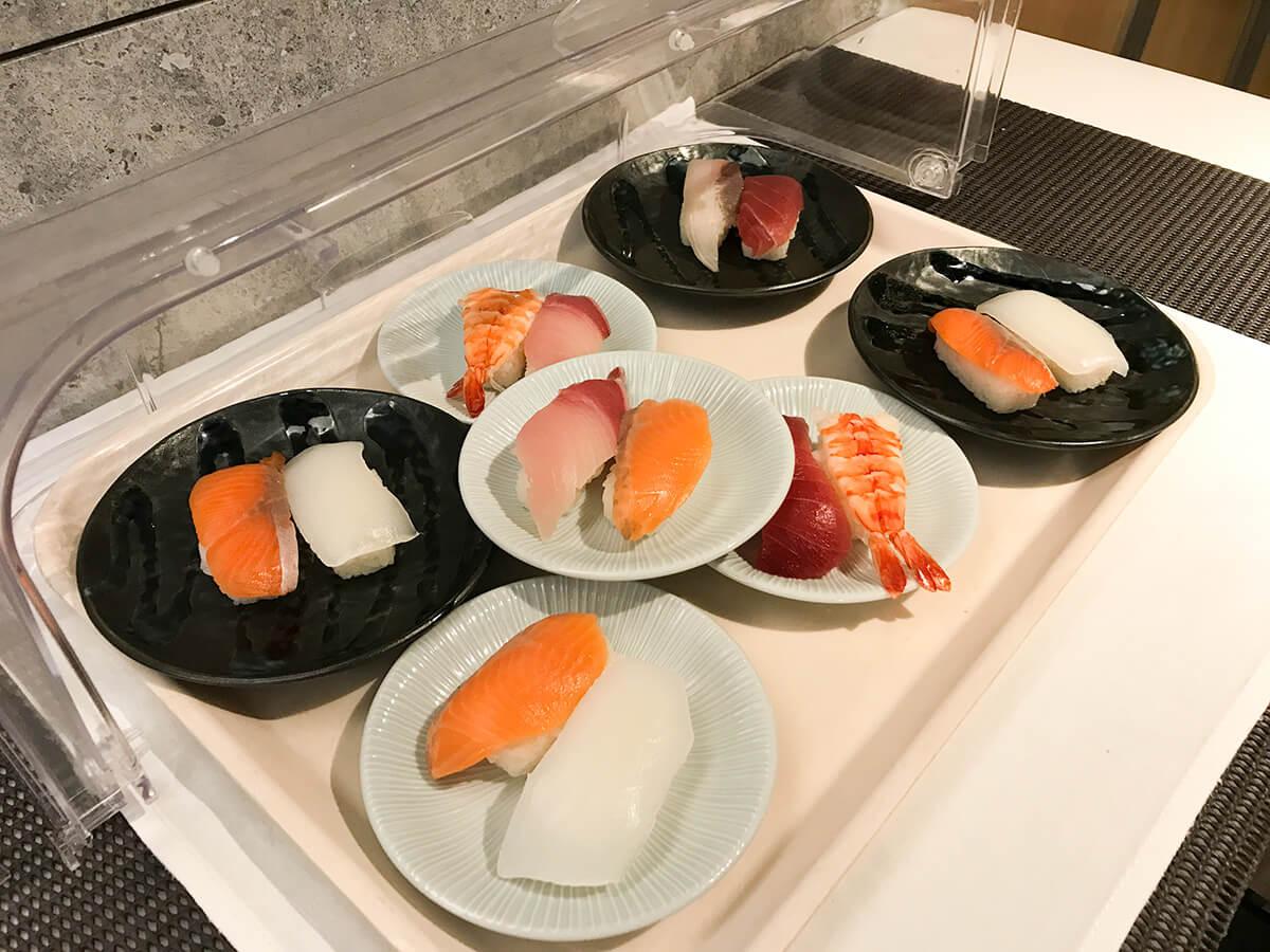 銀座ホテルブッフェ、Buffet & Cafe GINZA SAI 寿司コーナー