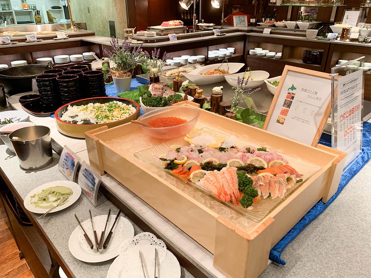 ホテルグランドパレスのブッフェレストラン・カトレアの北海道フェア