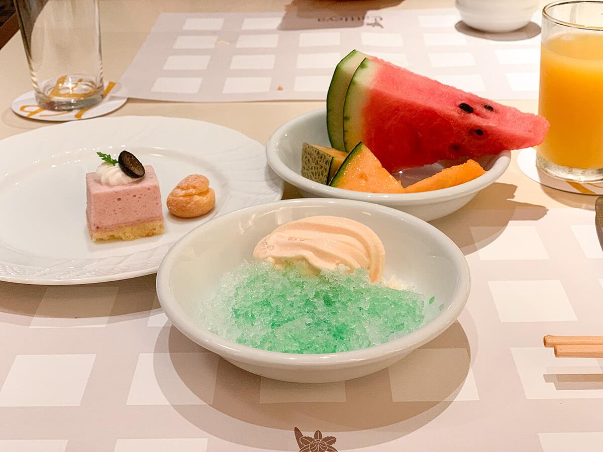 ホテルグランドパレスのブッフェレストラン・カトレアのデザート