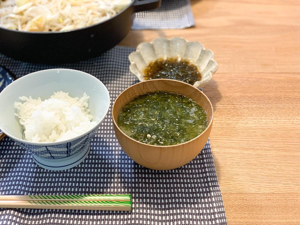 あおさのりのお味噌汁