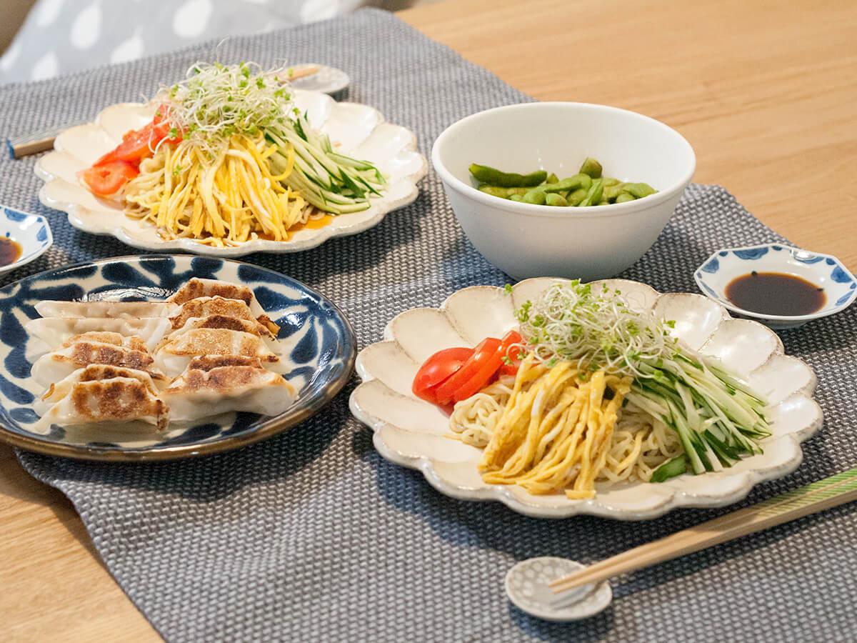 冷やし中華の晩御飯