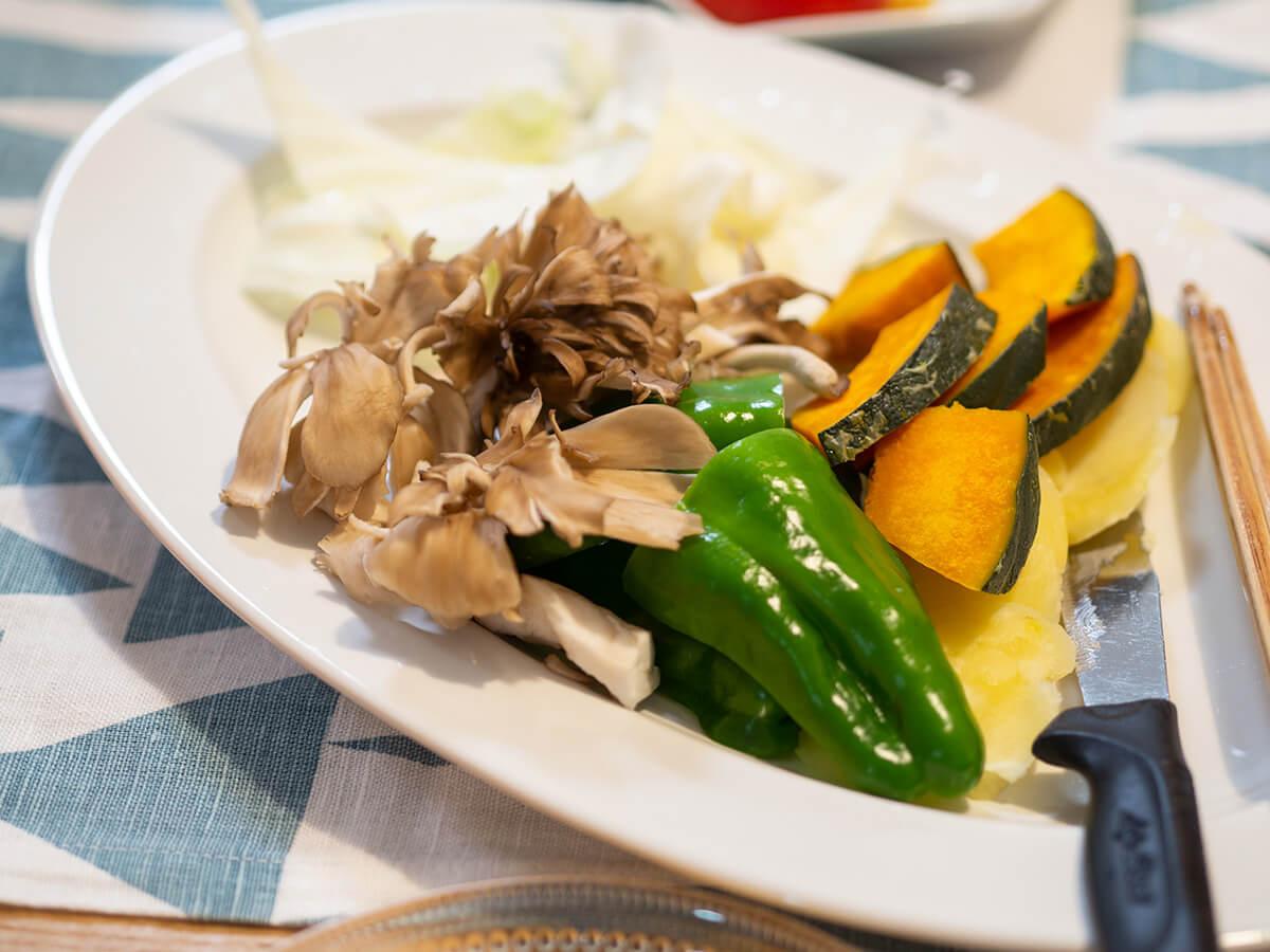 お家焼肉で揃えた野菜類