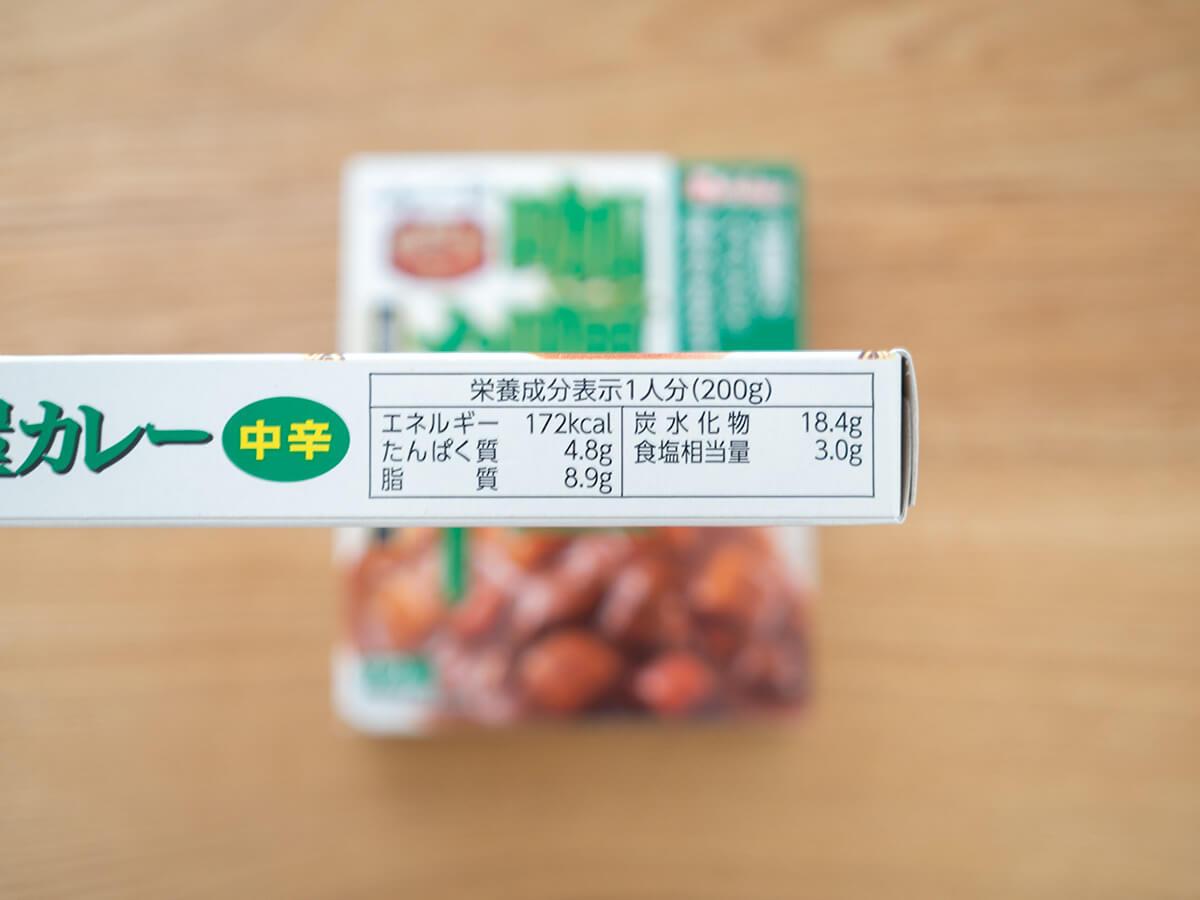 咖喱屋カレーの栄養成分表示