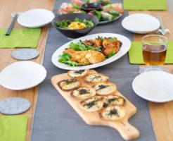 低脂質なホームパーティの料理