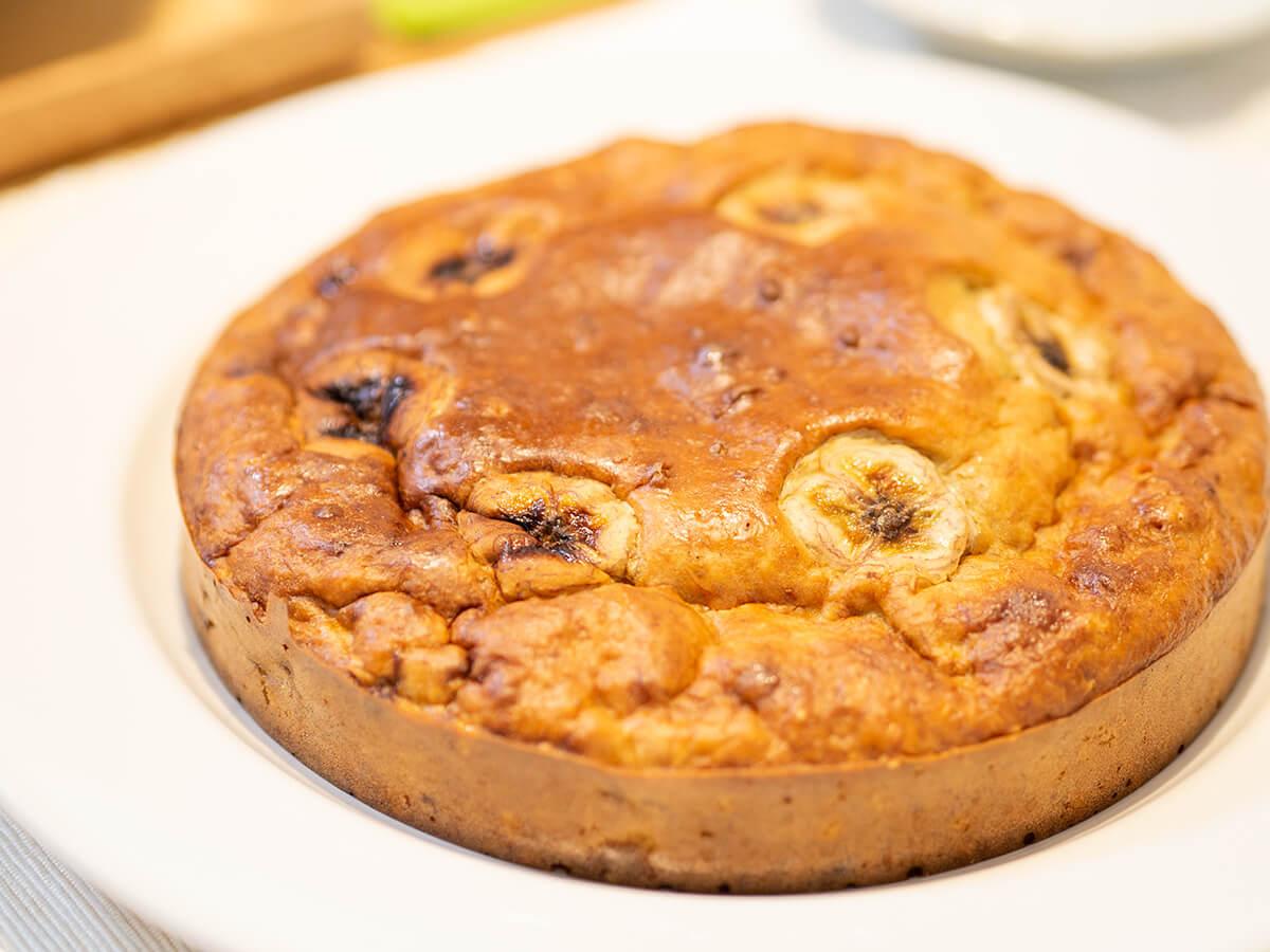 簡単なバナナケーキ完成