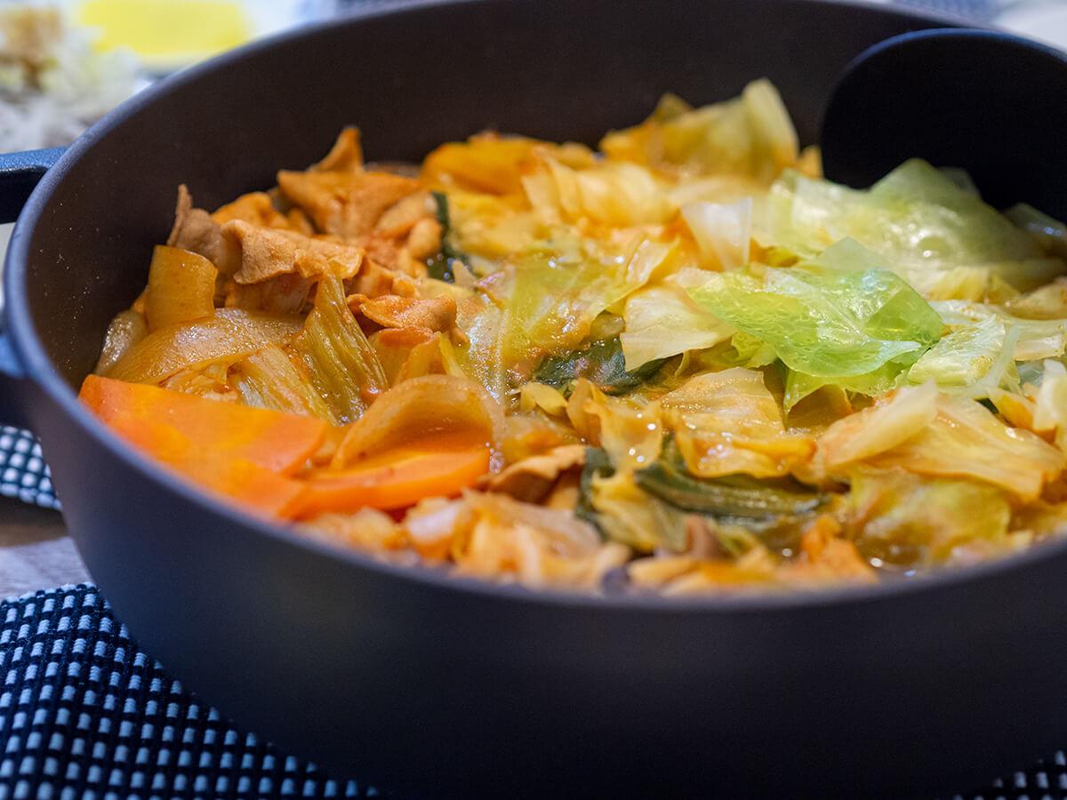無印良品のミネストローネ鍋を作ったところ
