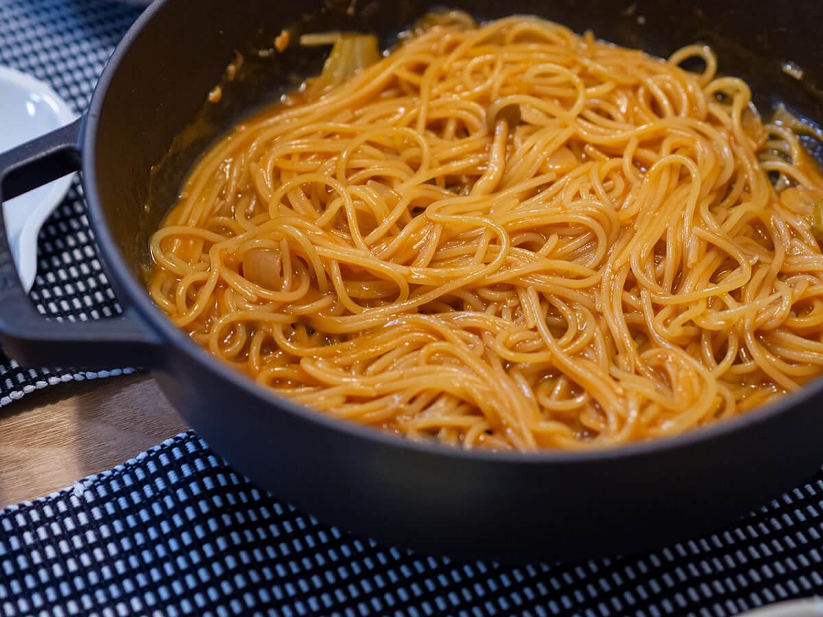 無印良品のミネストローネ鍋のシメ