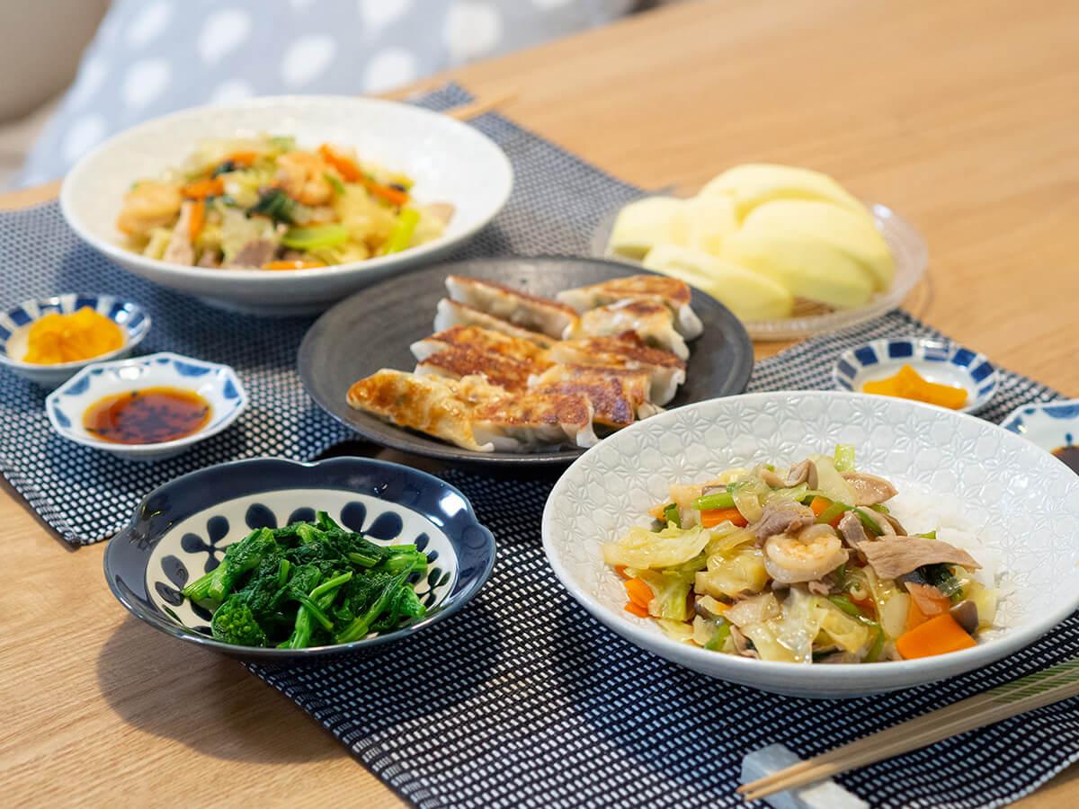 中華丼と餃子