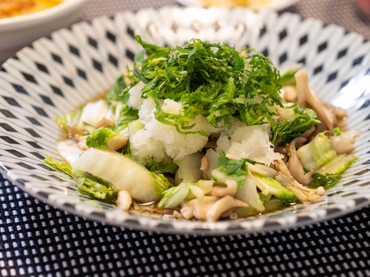 白菜と舞茸の酒蒸し