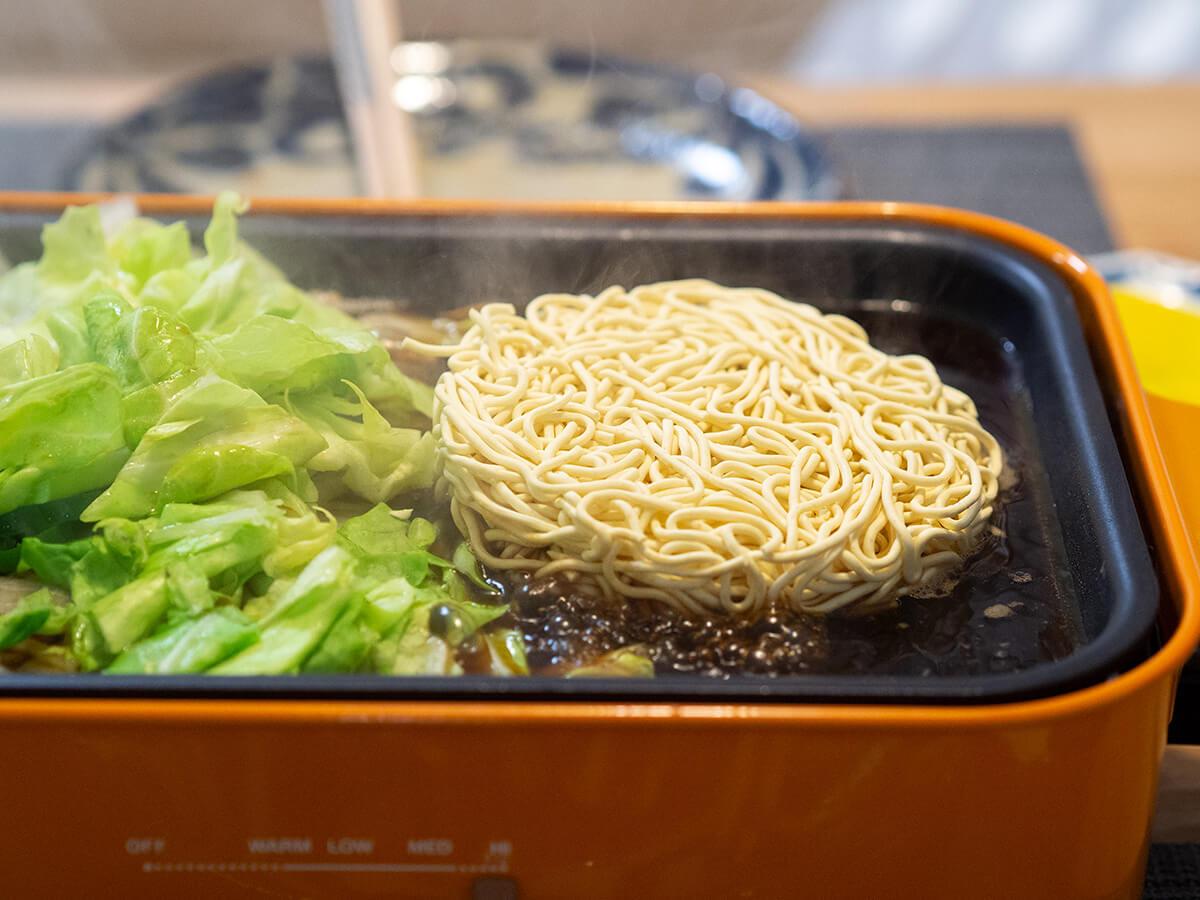 マルちゃん正麺ソース焼きそばの作り方