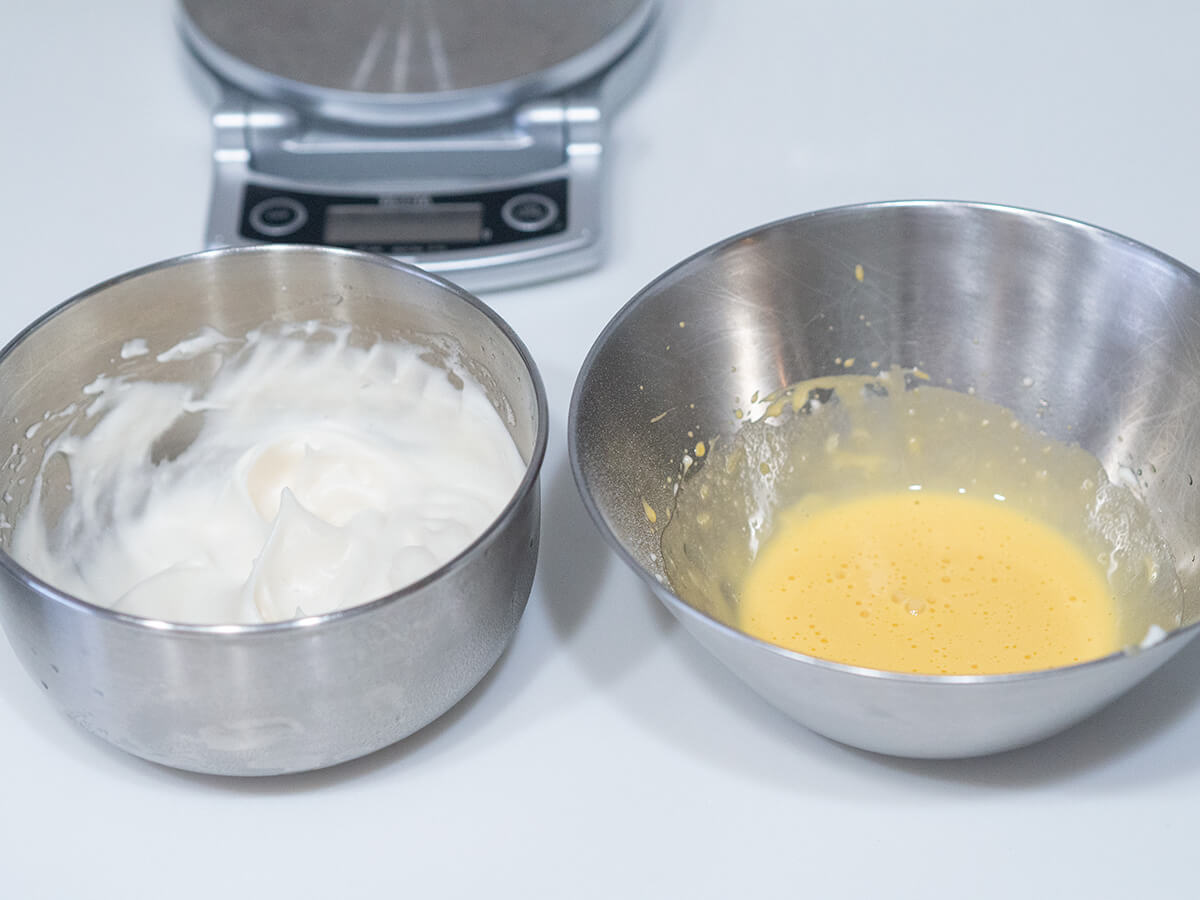 スフレパンケーキの作り方2