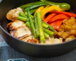 鶏胸肉と野菜のソテー