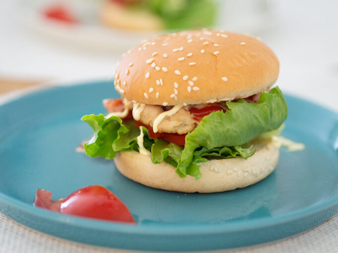 低脂質なハンバーガー