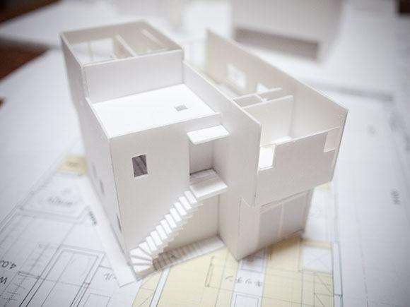 一軒家の模型