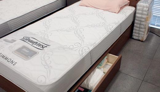 ベッド下の収納力を考える。ガス圧式か引出しか?