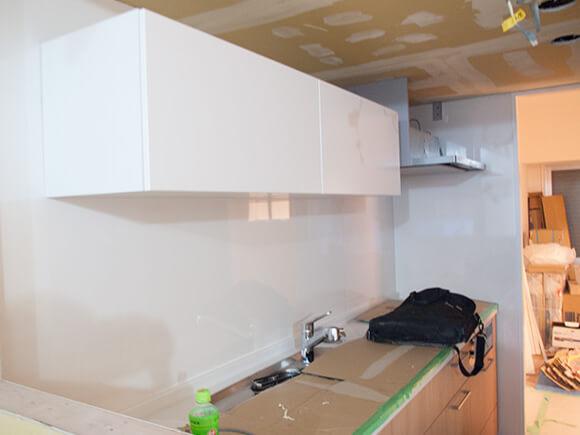 リノベ工事中のキッチン