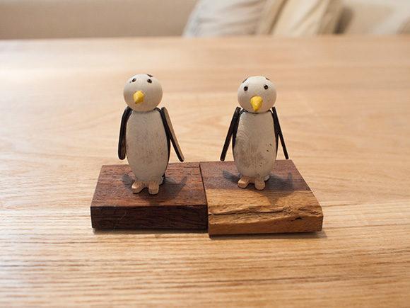 手作りのペンギン置物