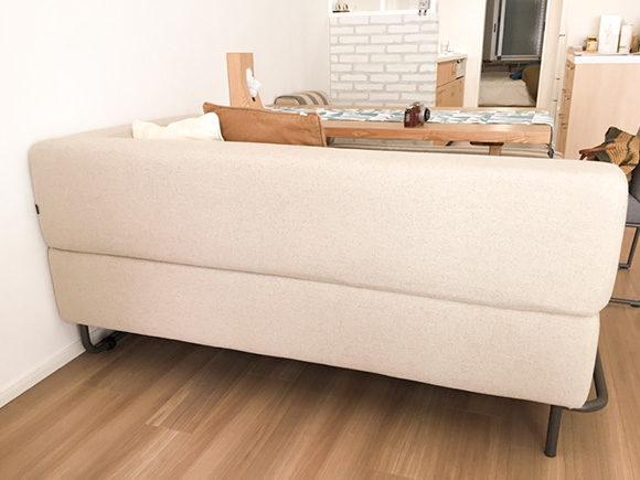 ソファーの背面