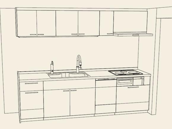 パナソニックキッチンの設計案