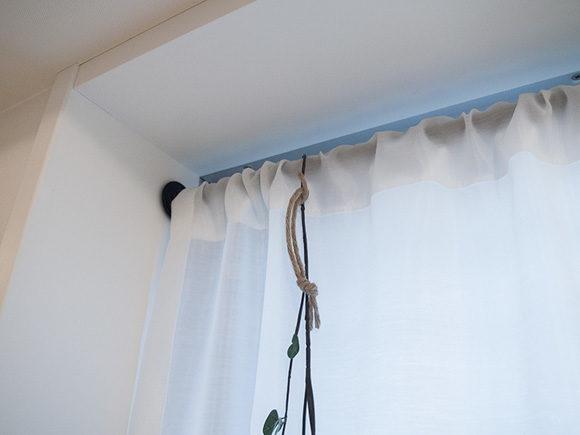 カーテンをかけたところ