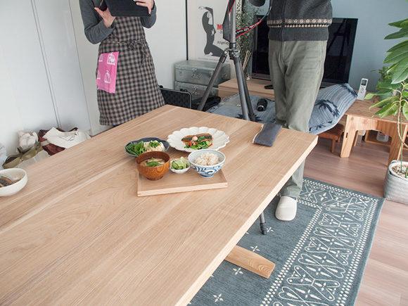 料理の撮影風景