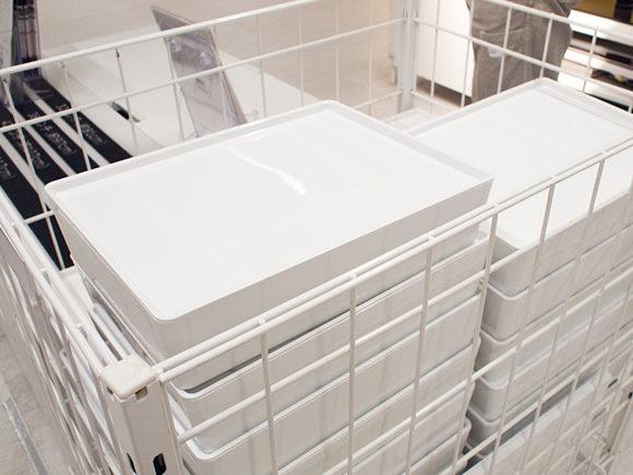 IKEAの白い収納ボックス