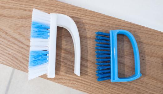 玄関タイルを100均ブラシで掃除&油汚れも水で落ちるパルスイクロス