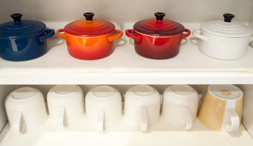 食品ストックと食器棚の収納見直し+食器棚に敷くシートの話