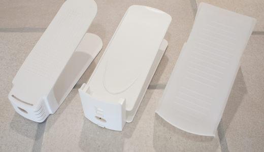 下駄箱の掃除と収納見直し〜高さを調整できるシューズホルダー