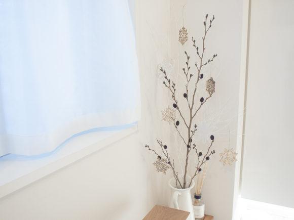 白ぬり 枝 クリスマス