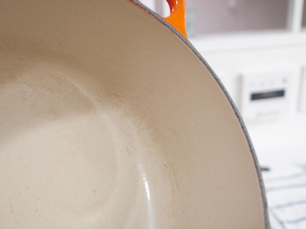 ホーロー鍋の汚れ