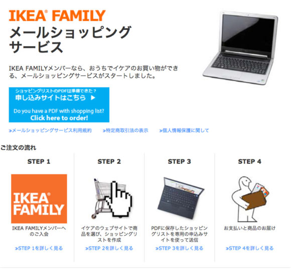 IKEA メールショッピングサービス