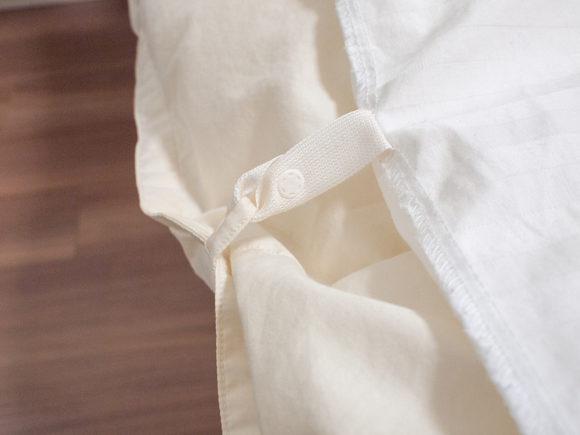 ボタンタイプの掛け布団カバー